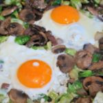 Keto Breakfast Ideas - Brussels Sprouts Breakfast Hash Recipe - Easy low carb keto recipes - perfect fried eggs and veggies dish for breakfast or breakfast for dinners.