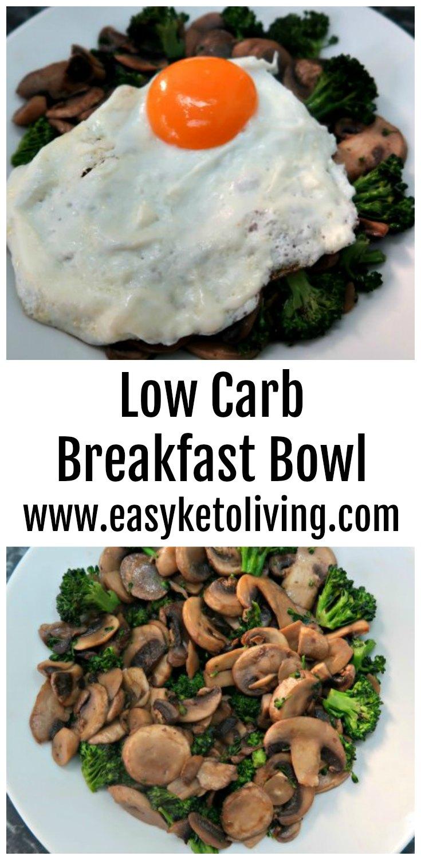 low carb breakfast bowl recipe - gluten free keto diet breakfast idea