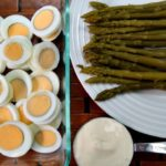 Keto Egg Salad with Asparagus - A delicious salad of hard boiled eggs and asparagus that's low carb, ketogenic diet friendly.
