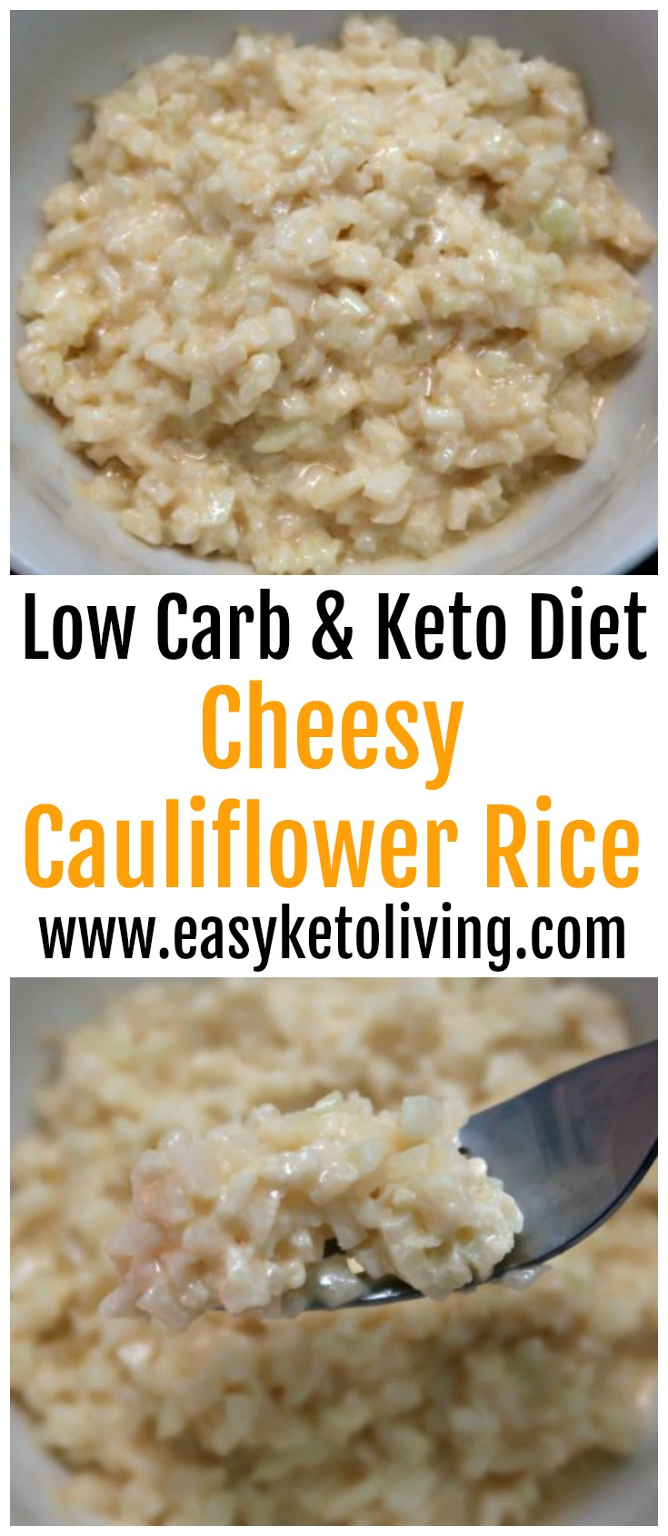 Cheesy Cauliflower Rice Recipe - Easy Low Carb & Keto Diet Friendly Recipes - Quick LCHF Ketogenic Dinner Ideas