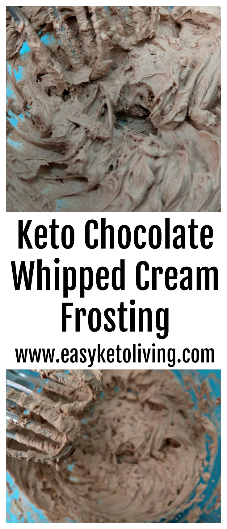 Keto Chocolate Whipped Cream Frosting Recipe – Easy Low Carb Homemade Chocolate Filling or Dessert which could also be enjoyed as a chocolate mousse!
