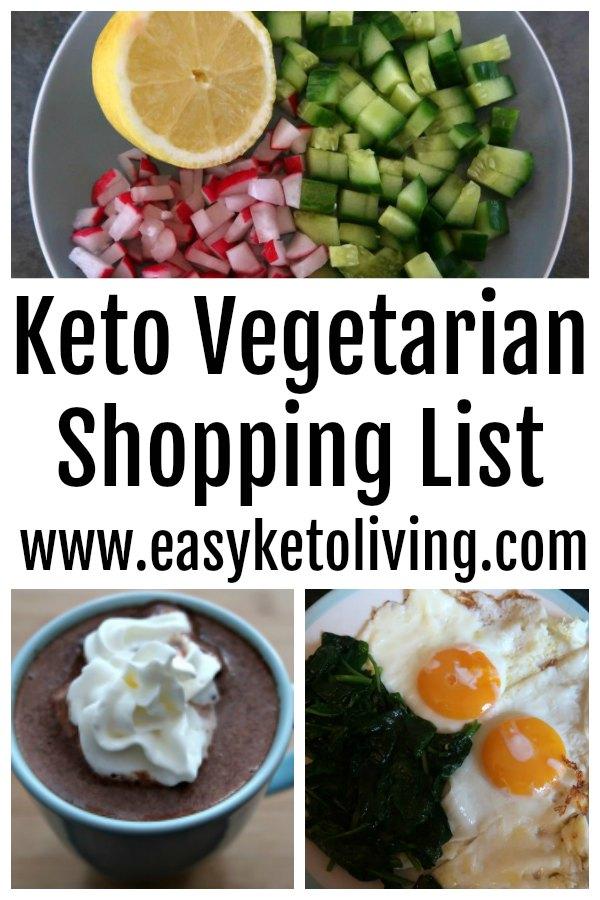 Keto Vegetarian Shopping List Low Carb Veggie Shopping Food List