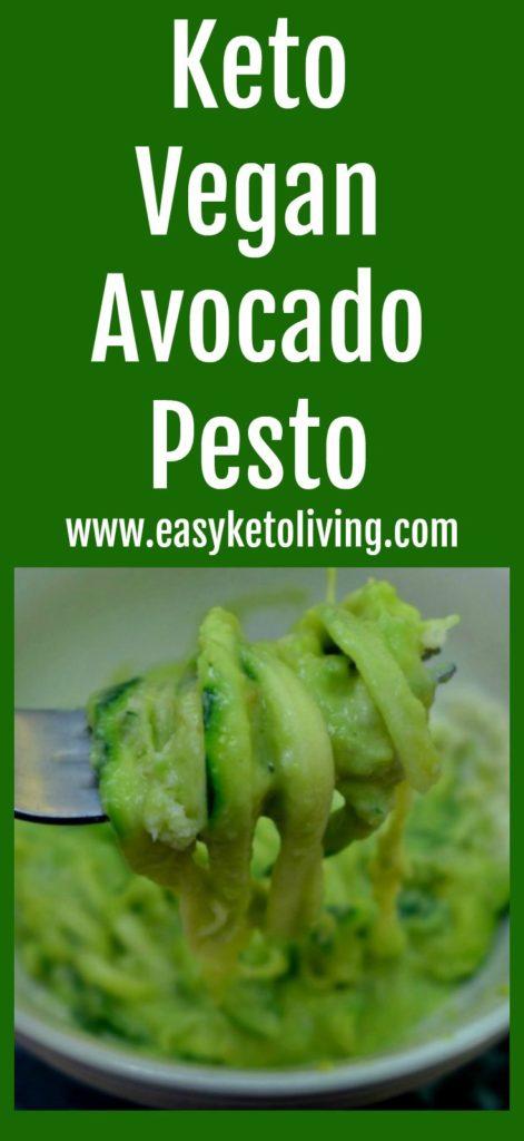 Keto Vegan Avocado Pesto With Zucchini Noodles - an easy low carb & paleo friendly pasta replacement.