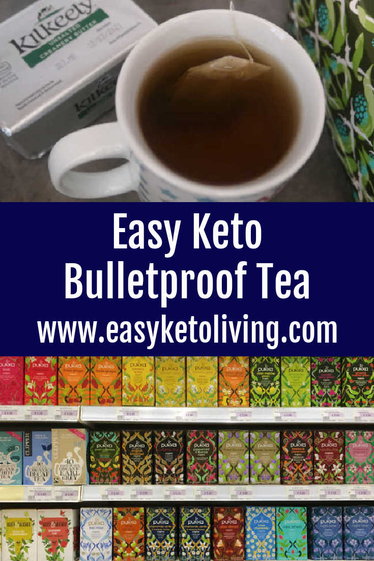 Keto Bulletproof Tea Recipe - How to make low carb hot drinks with butter, heavy cream, coconut oil or MCT oil and green tea, matcha or your tea of choice - with the video.